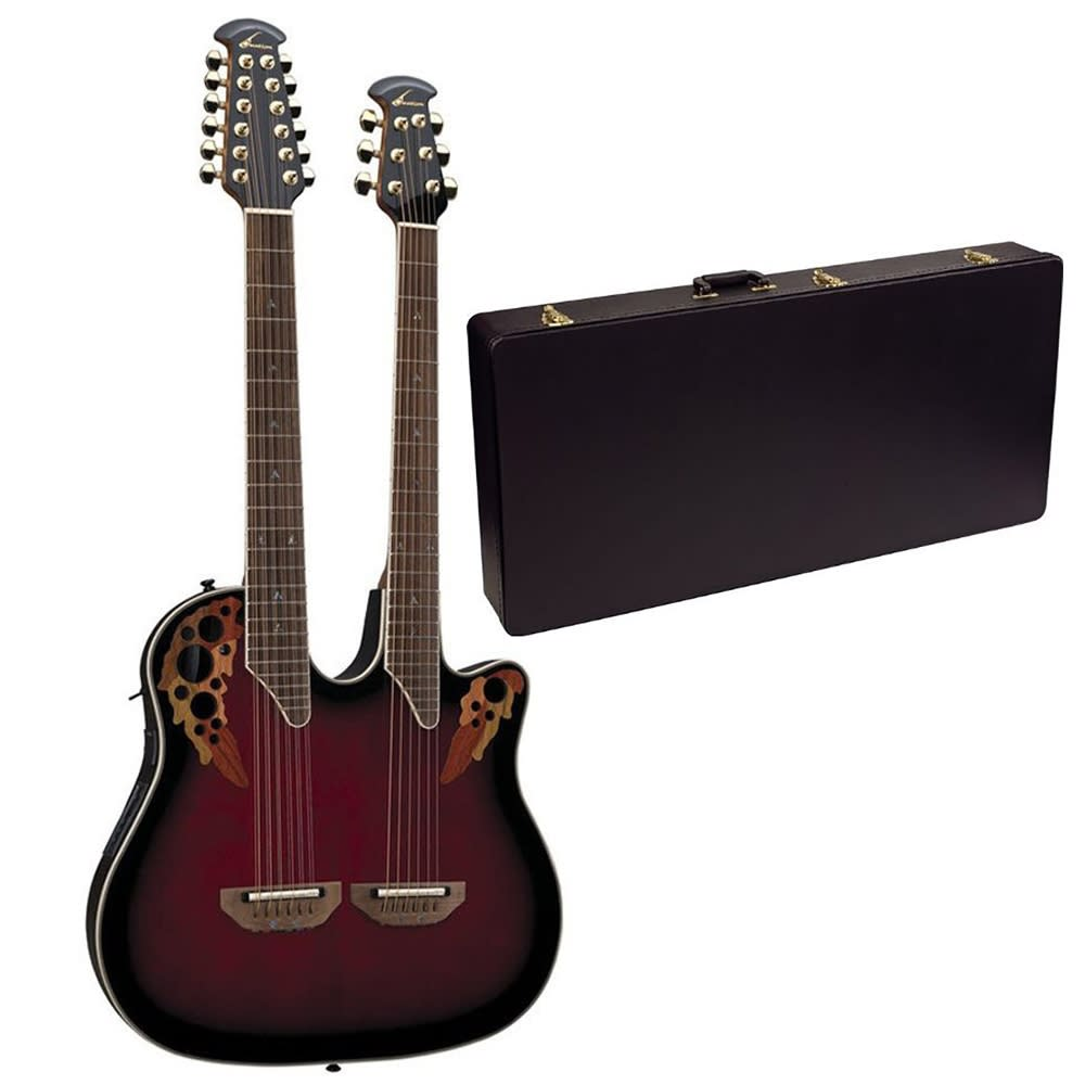 Ovation Celebrity Deluxe Double Neck Case | Music123