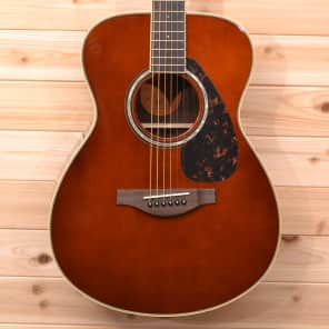 Yamaha LS6R-TBS Spruce/Rosewood Concert Acoustic/Electric Guitar Tobacco Brown Sunburst