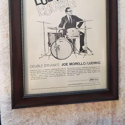 1966 Ludwig Drums Promotional Ad Framed Joe Morello Original