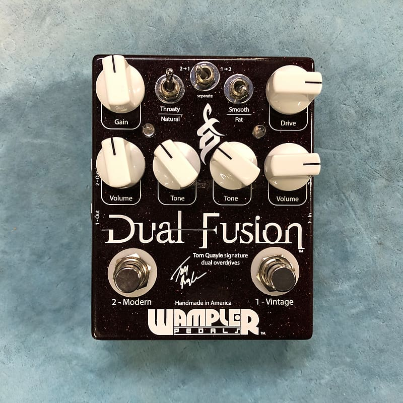 Wampler Dual Fusion Tom Quayle Signature Overdrive Effects Pedal