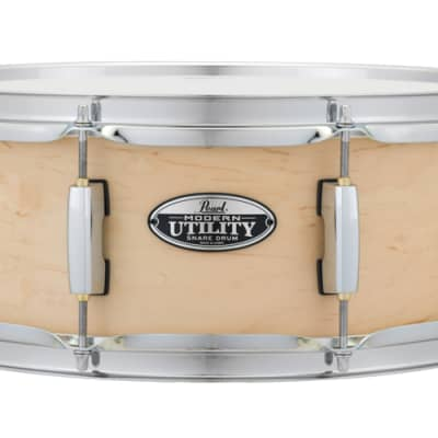 """Pearl MUS1455M/C224 Modern Utility 14x5.5"""" Maple Snare Drum 2010s Matte Natural"""
