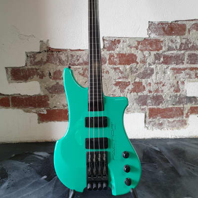 Kubicki Factor 1989 - Seafoam Green - Fretless - MINT CONDITION with Original brochure and shop info for sale