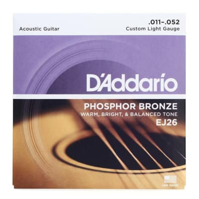D'Addario EJ26 Phosphor Bronze Acoustic Guitar Strings .011-.052