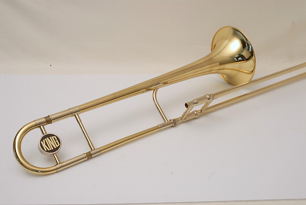 King 2B Trombone Early 1980's Lacquer Yellow Brass