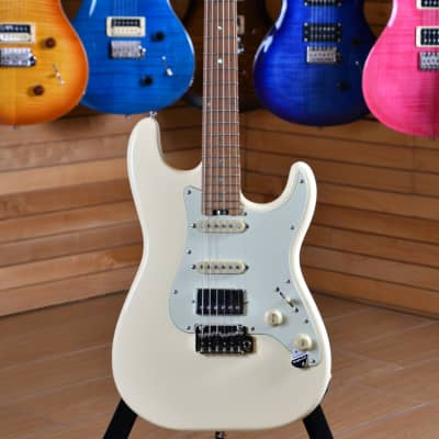 Schecter Traditional Route 66 Limited Edition Yang Matched Vintage White ( with GHS Boomers 10 & Deluxe Gig Bag ) for sale