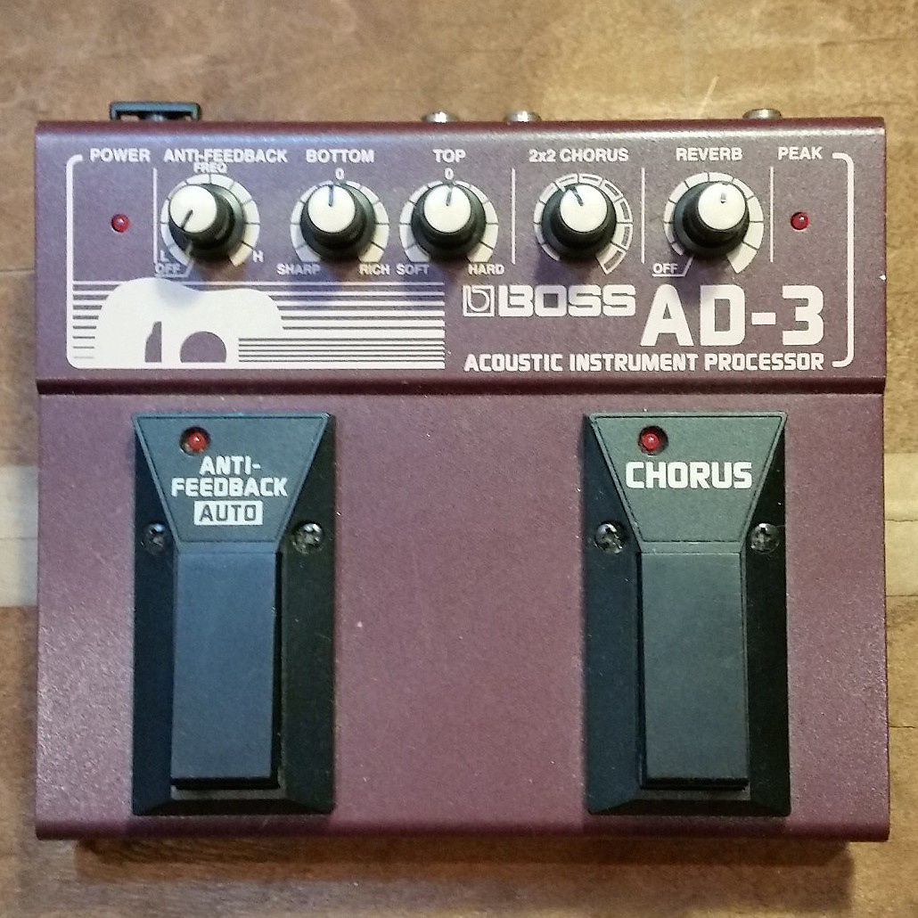 Boss ad 3 acoustic instrument processor reverb for Motor city guitar waterford