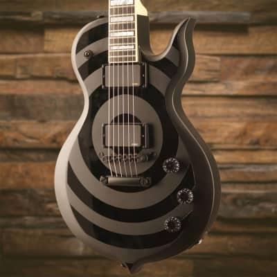 Wylde Audio Odin Black Bullseye w/ EMG's, Floyd Rose, Richlite FB & Case - Used image