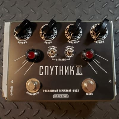Spaceman Effects Sputnik II Prototype Demo Germanium Fuzz Russian Font Edition