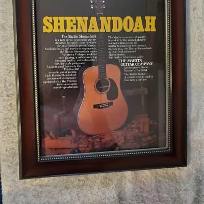 1984 Martin Guitars Color Promotional Ad Framed Martin Shenandoah D28-32 Oroginal