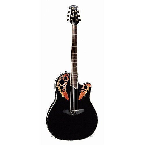 Ovation CE44-5 Acoustic-Electric Guitar, Black - amazon.com