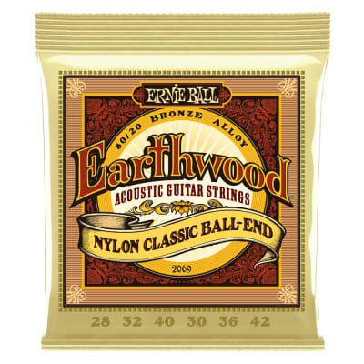 ERNIE BALL 2069 Earthwood 80/20 Bronze Folk Nylon Ball End for sale