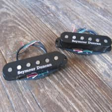 Free USA Shipping | Seymour Duncan Classic Stack Neck  & Middle | Black Covers, Good Lead Length