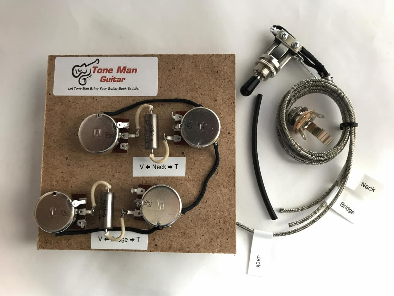 les paul gibson epi 50s prebuilt wiring kit with pio reverb. Black Bedroom Furniture Sets. Home Design Ideas