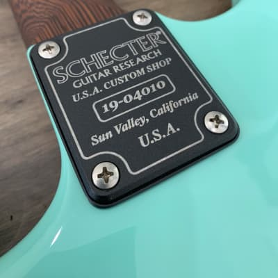 Schecter Guitar Custom Shop USA Nick Johnston Traditional Atomic Green Electric Guitar for sale