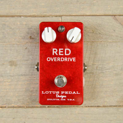 Lotus Pedal Designs Red Overdrive MINT