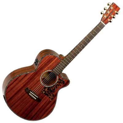 Tanglewood TW47-E Sundance Pro Solid Mahogany Super Folk Cutaway with Electronics Natural Gloss