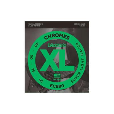 D´Addario Chromes ECB80 Flatwound Bass Strings 40-95