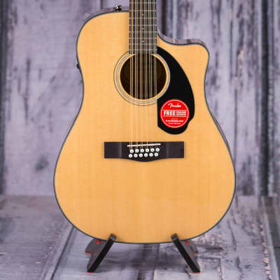Fender CD-60SCE Dreadnought 12-String Acoustic/Electric, Natural for sale