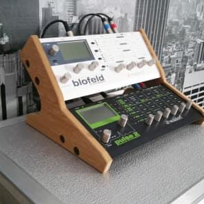 Dual Waldorf  Blofeld/Pulse 2 Oak Veneered Precision  Recessed Stand
