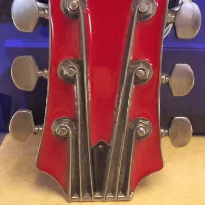 Aim Guitar Headstock Belt Buckle Red