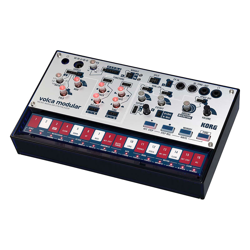 korg volca modular semi modular analog synthesizer 16 step reverb. Black Bedroom Furniture Sets. Home Design Ideas
