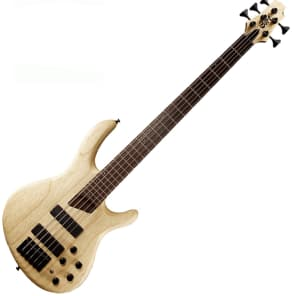 Cort B5 Plus 5 String Bass Active Passive Markbass Bartolini MK-1 Natural for sale