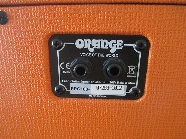 Orange 1X8 Cabinet. Compact Tone! | SmallAxeMusic | Reverb