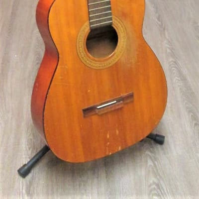 Harmony 173 1961 Natural. Project Guitar. Needs 1 brace, strings, nut and saddle for sale