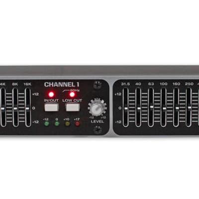 Rockville REQ215 Dual 15 Band 1/3 Octave Graphic Equalizer w/ Sub-Output!