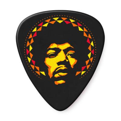 Dunlop JHP16HV Jimi Hendrix '69 Psych Series Aura Mandala Celluloid Heavy Guitar Picks (6-Pack)