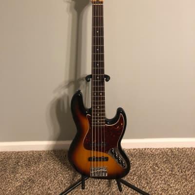 Fender Deluxe Active Jazz Bass 5 String V 2009 Sunburst for sale