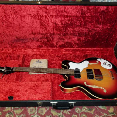 Mosrite Celebrity III Mark X Sunburst 1967 Bakersfield California Bass Guitar The Ventures for sale