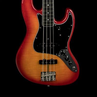 Fender Rarities Flame Ash Top Jazz Bass - Plasma Red Burst #99599 for sale