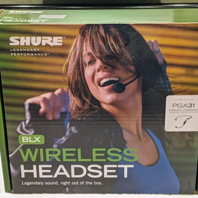 Shure BLX14/PGA31-H9 Wireless Vocal Microphone System Complete, MINT in BOX!