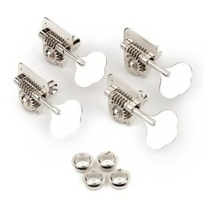 Fender Vintage-Style '70s Bass Tuning Machines (Import), Chrome (4) 2016