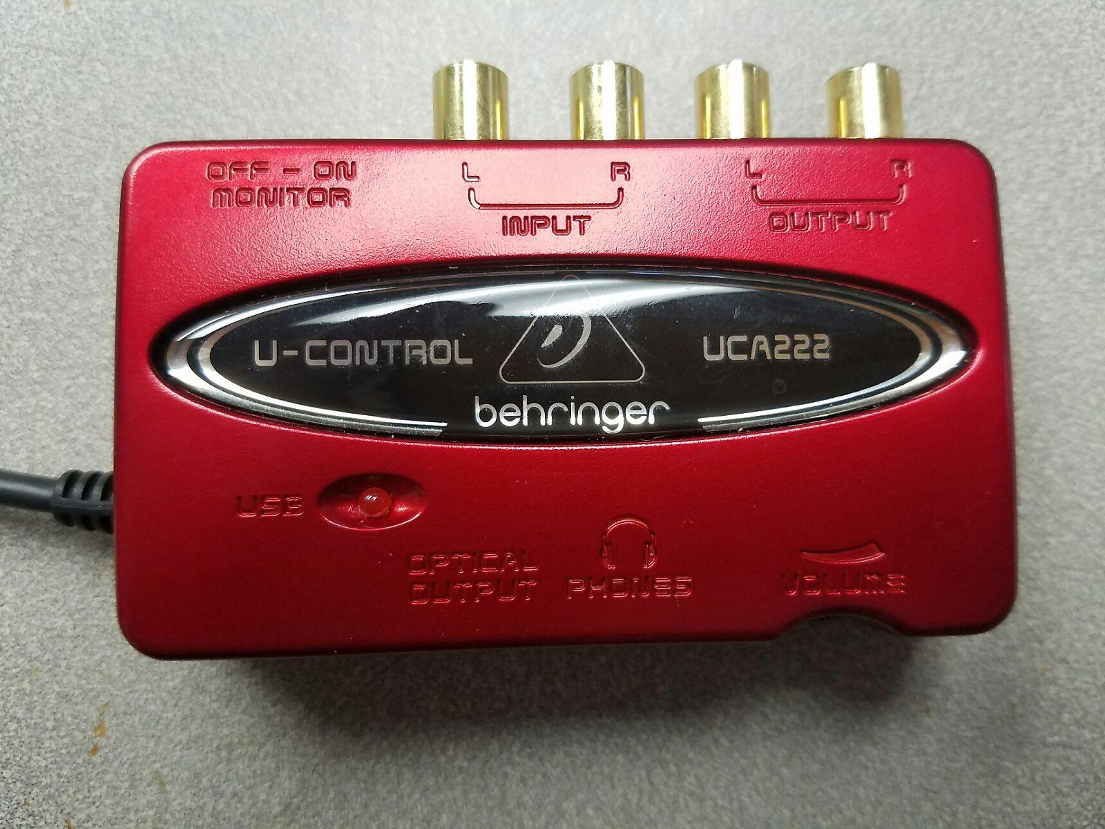 behringer u control uca222 2 channel 16 bit 48khz usb reverb. Black Bedroom Furniture Sets. Home Design Ideas