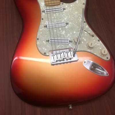 Fender American Deluxe Stratocaster 2011 Sunset Metallic for sale
