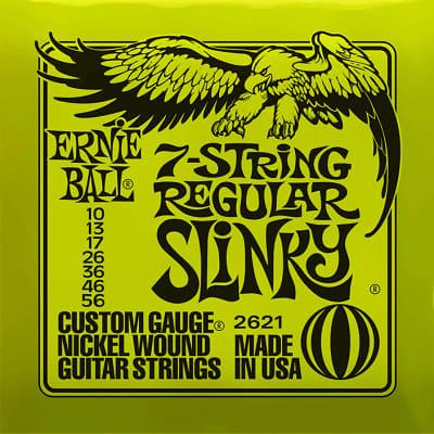 Ernie ball Slinky Nickelwound 7 String Regular Slinky Guitar Strings 10 - 56 for sale