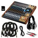 Tascam Model 16 Multi-Track Live Recording Console - Studio Kit