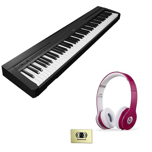 yamaha p 35 digital piano with beats solo hd on ear reverb. Black Bedroom Furniture Sets. Home Design Ideas