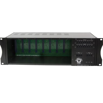 Black Lion Audio PBR-8 Patchbay Rack 8 Powered 500 Series Frame with Patchbay