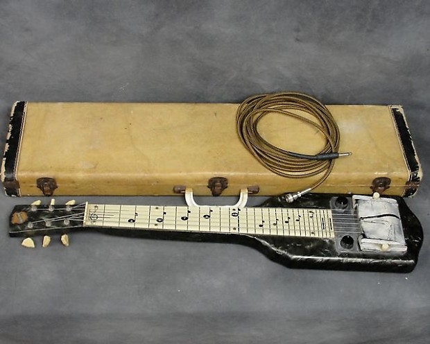 Vintage 1950s National Chicagoan Lap Steel Guitar With Screw On Cable