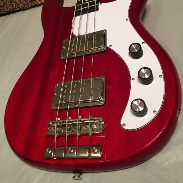 Epiphone  Embassy Pro 2017 Dark Cherry electric 4 IV four bass guitar  Pro Buckers image