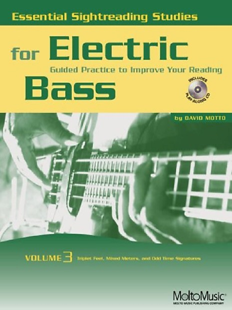 Essential Sightreading Studies for Electric Bass Vol  3, Book/CD
