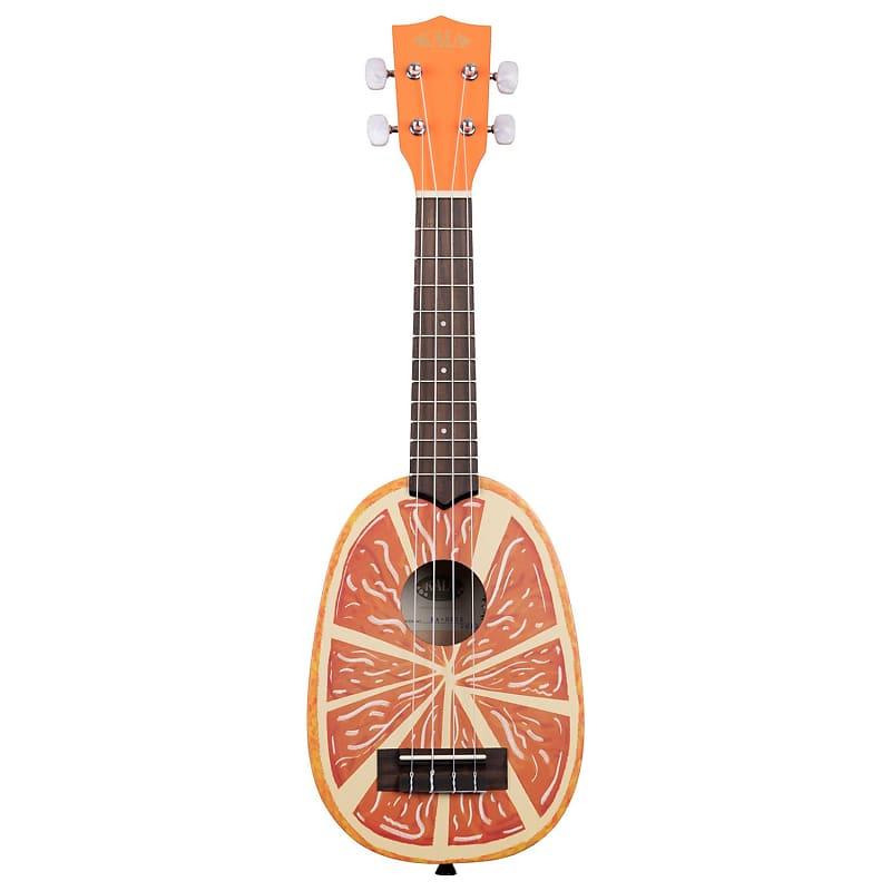 Kala Novelty Orange Graphic Pineapple Soprano Ukulele