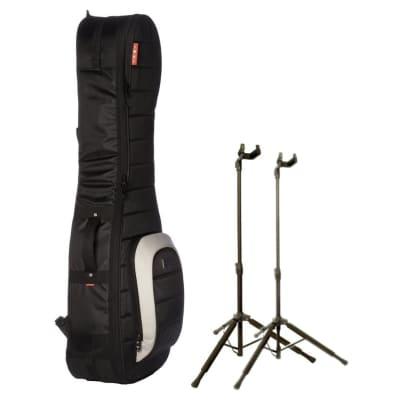 Mono M80-2G-BLK Dual Multi-Guitar Bag Bundle