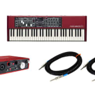 Nord Electro 5D 61 61-Key Keyboard w/ Focusrite 2i4 and 2 instrument cables