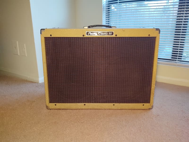 1990s peavey classic 50 2x12 tweed tube combo amp reverb. Black Bedroom Furniture Sets. Home Design Ideas