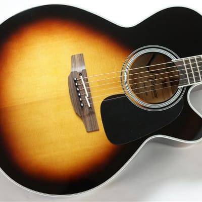 MIJ Takamine P6NC BSB Pro Series 6 NEX Cutaway Acoustic/Electric Guitar Brown Sunburst Gloss