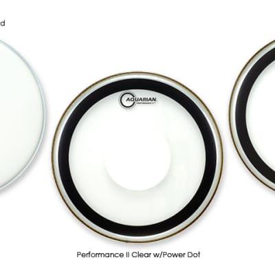 """Aquarian 13"""" Performance 2 Drumhead Clear"""